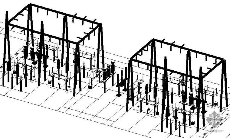 变电站三维效果图