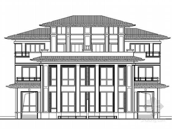 [扬州]某国际花园三层简欧式双拼别墅施工图(18号楼)