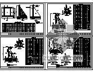 扶壁式挡土墙施工图(H=4~12m)