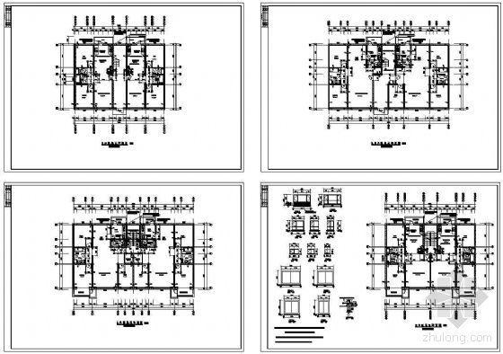 北方板式住宅单元户型平面图