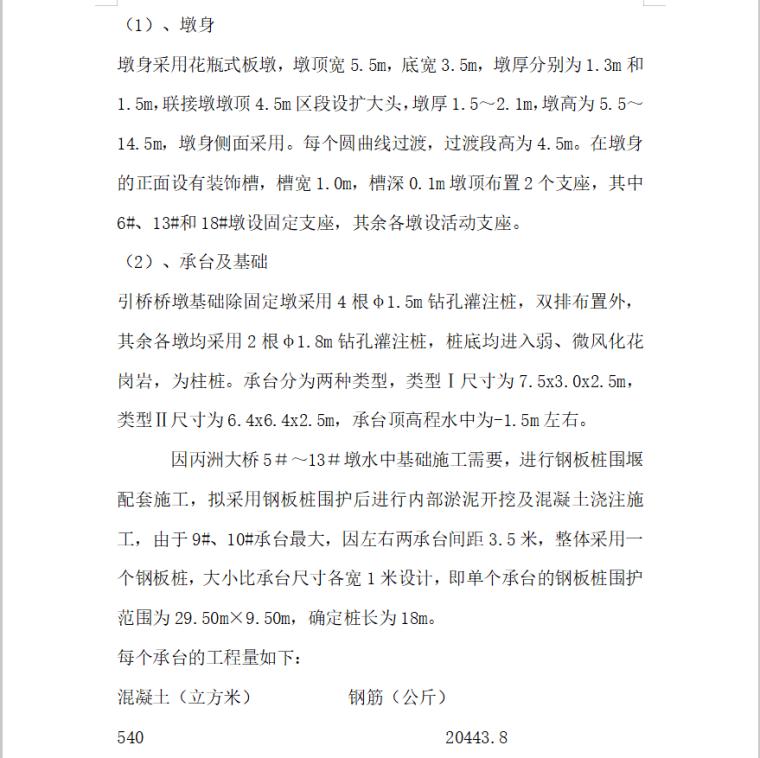 墩钢板桩围堰施工组织设计方案(24页)