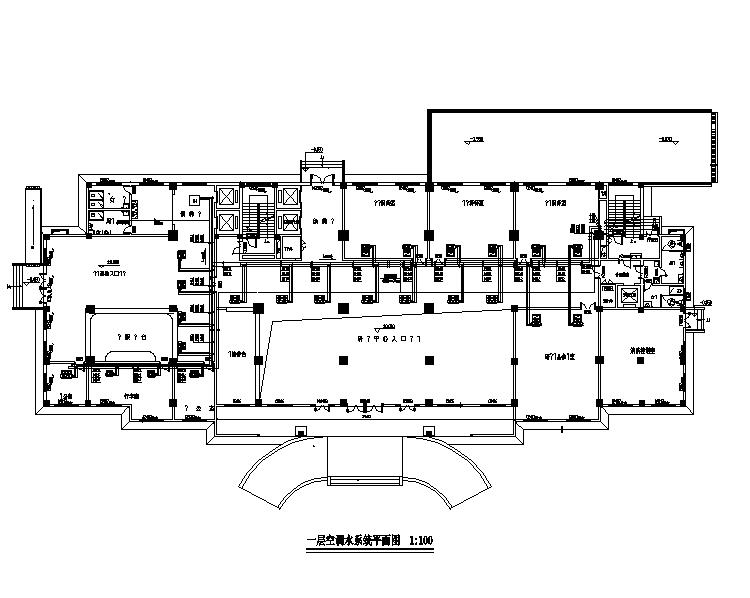 武汉科研大楼暖通设计施工图(地源热泵)