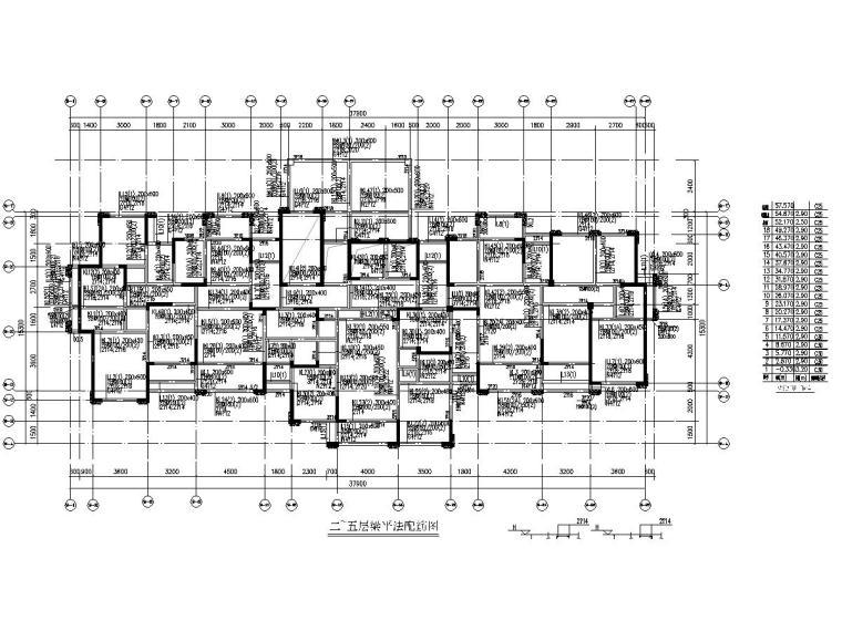 6200平18层住宅楼建筑结构施工图