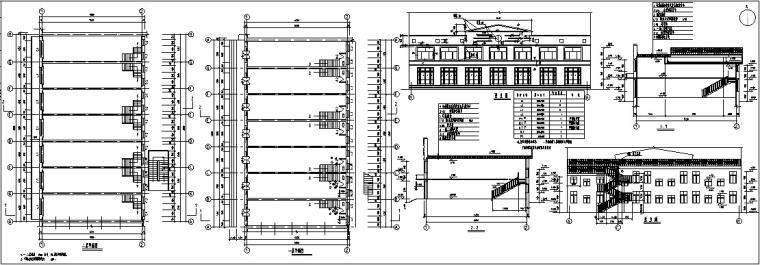 欧式多层沿街商铺建筑设计方案初设图CAD-3