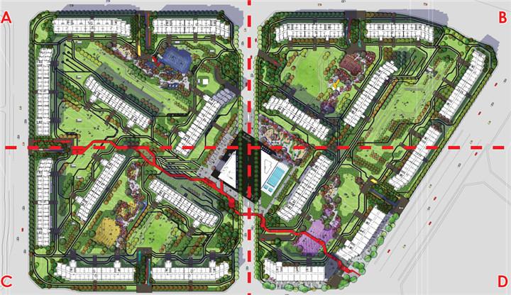 北京高档小区景观设计方案资料下载-[北京]现代化环保居住区景观设计深化方案
