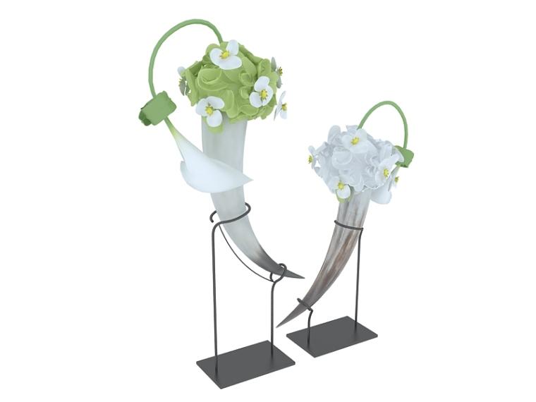 漂亮花卉摆设3D模型下载-漂亮花卉摆设