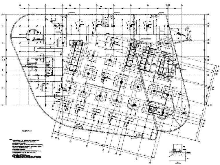 [上海]地上18层框架剪力墙结构商业办公楼建筑结构施工图
