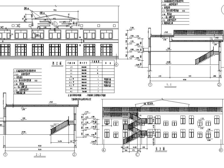 欧式多层沿街商铺建筑设计方案初设图CAD-1