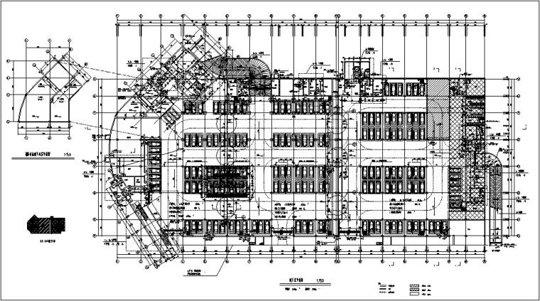 3套商住综合楼建筑设计施工图CAD-黄金海岸商住综合楼人防平面图