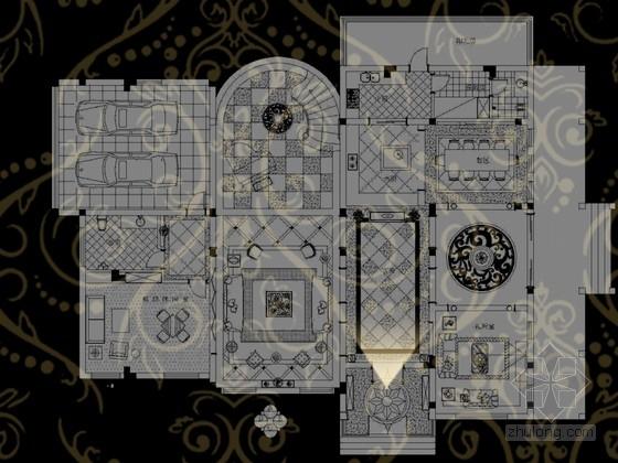 [江苏]欧式浪漫奢华别墅室内设计方案(含效果图)