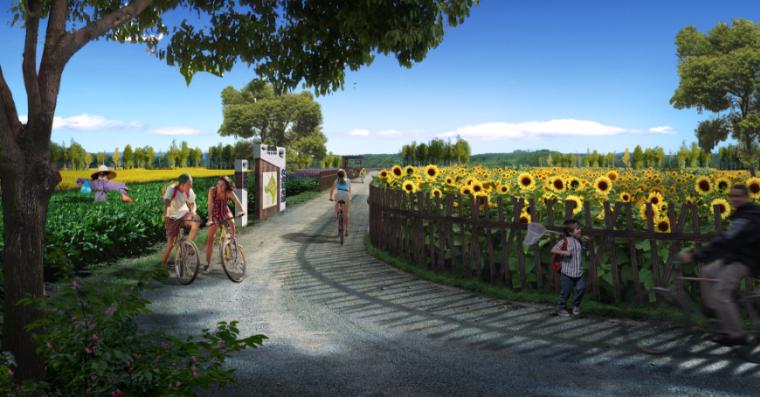 美丽乡村景观效果图PSD分层素材(2)