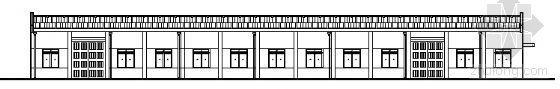 某纺织厂车间建筑结构方案图