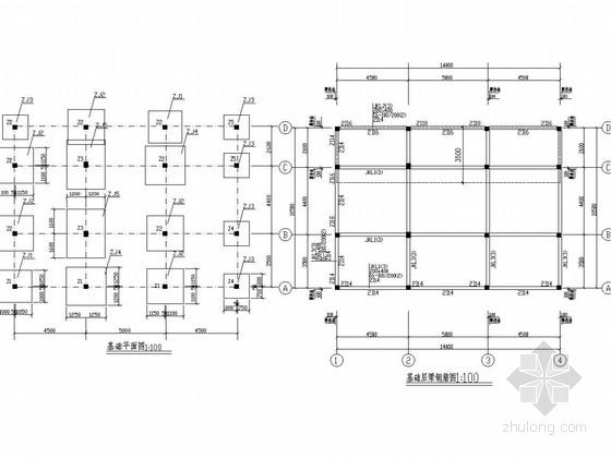 三层框架结构别墅结构图(独立基础)
