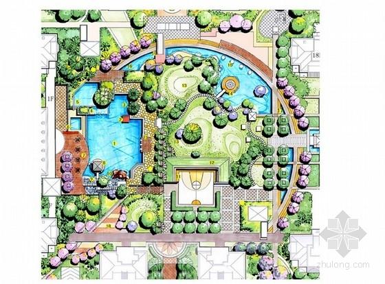 [浙江]东南亚风情住宅小区景观设计方案(手绘)