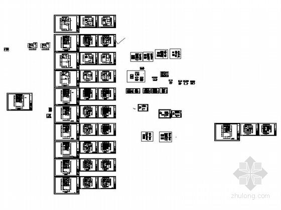 [江西]风景名胜区现代风格三层别墅装修施工图资料图纸总缩略图