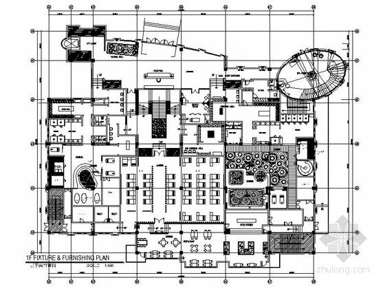 [广东]依山傍水铂金星级高档会议度假酒店室内装修施工图