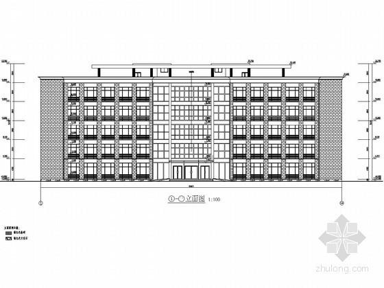 [学士]某5层框架办公楼优秀毕业设计(含计算书及建筑图)