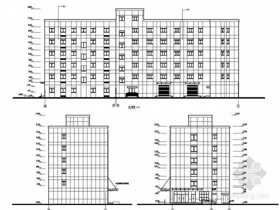 六层框架结构水厂综合楼结构施工图(含建筑图)