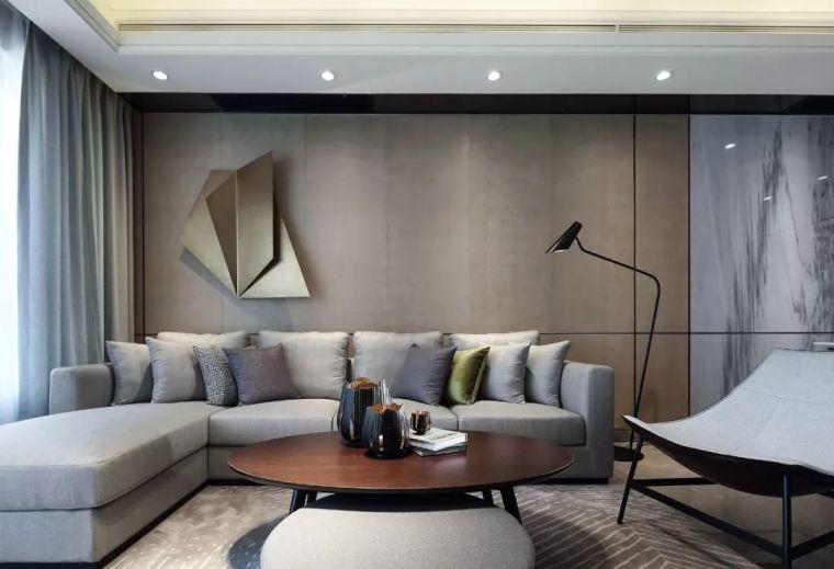 看看这两套样板房设计,用黑白灰勾勒出的简约风_46