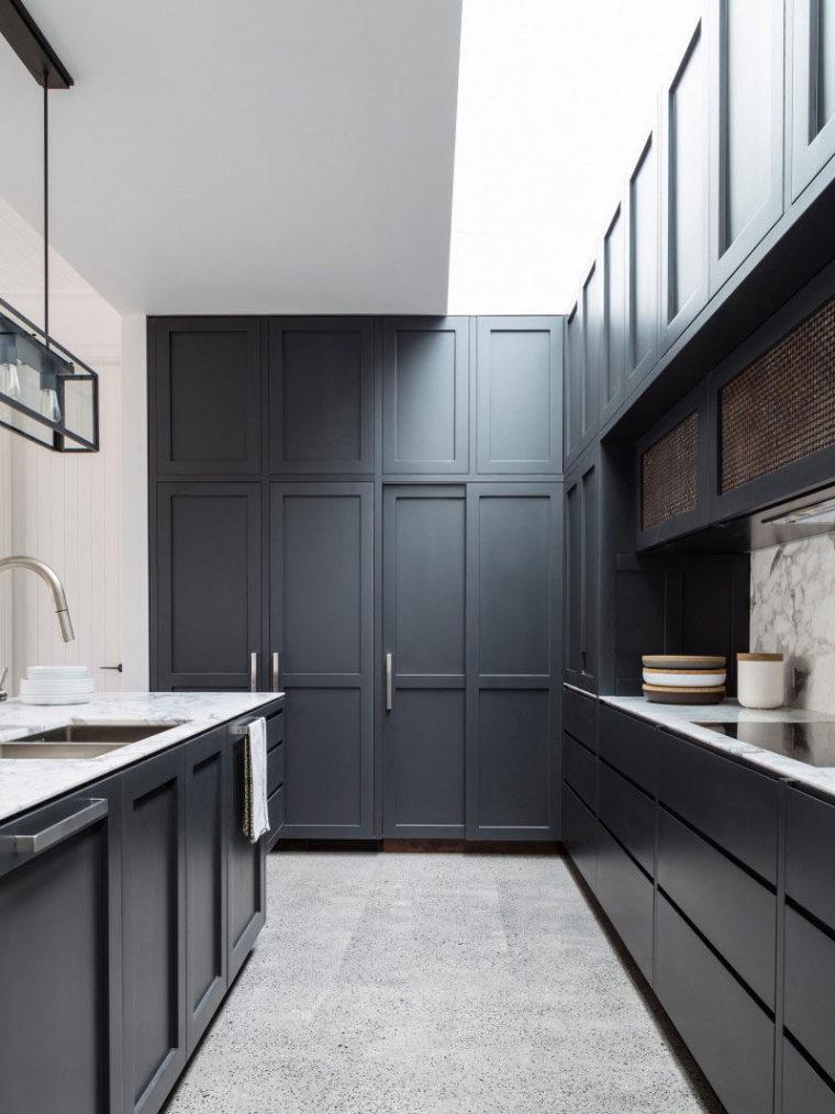 厨房设计新理念:橱柜集成冰箱