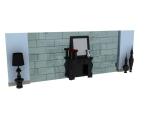 欧式背景墙3D模型下载