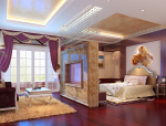 华丽套房卧室3D模型下载