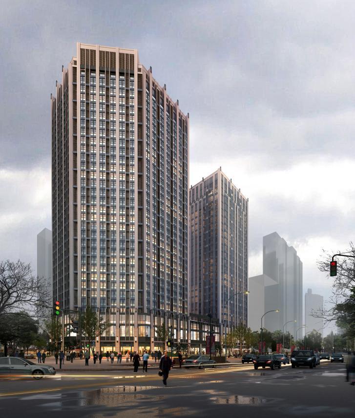 [合肥]高层现代Artdeco风格塔式住宅建筑(知名地产两套方案)