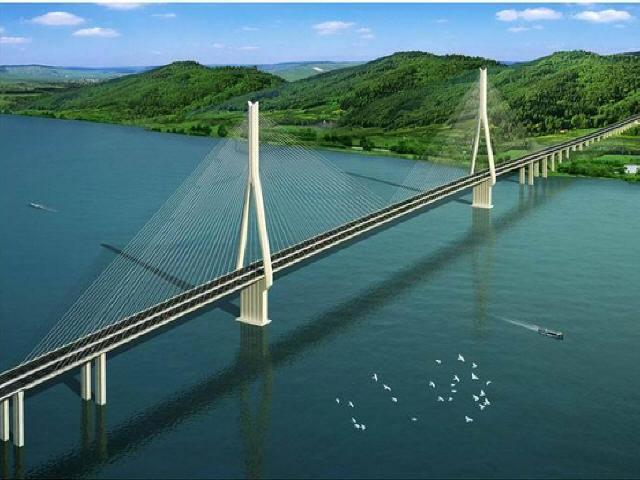 """世界最大跨度叠合梁斜拉桥""""望东长江大桥""""竣工"""