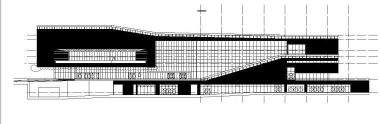 [广东]三层幕墙立面展览馆建筑施工图(16年最新图纸)