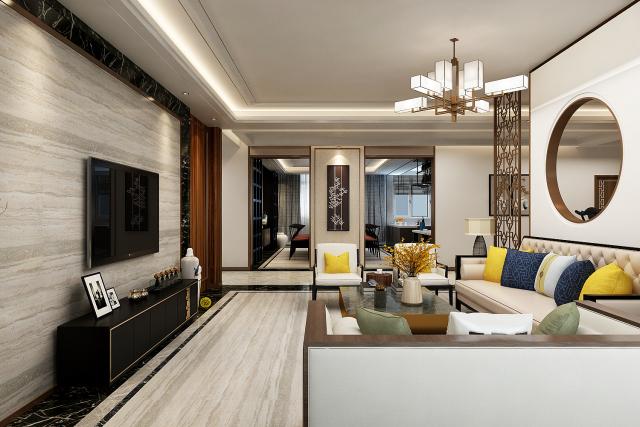 客厅 (1)-新中式风格第3张图片