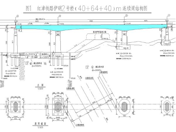 伊明2号桥(40+64+40)m连续梁现浇混凝土模板支撑架施工方案
