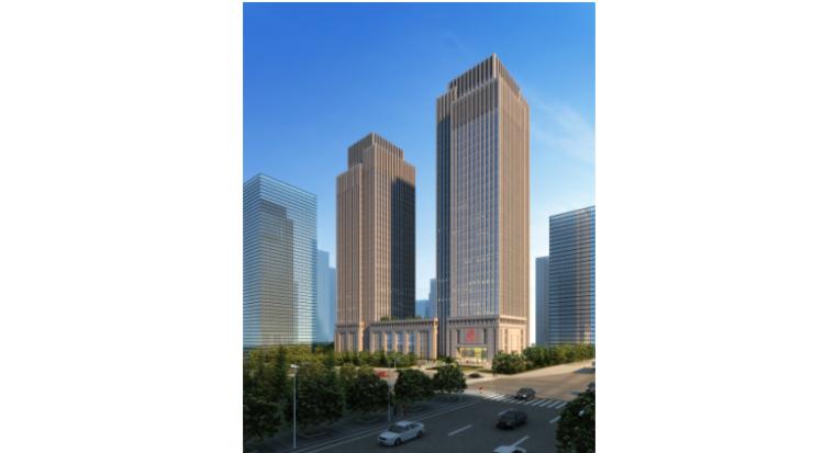 [重庆]新闻传媒中心一期工程附着式升降脚手架施工方案