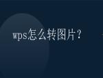 wps怎么转图片?