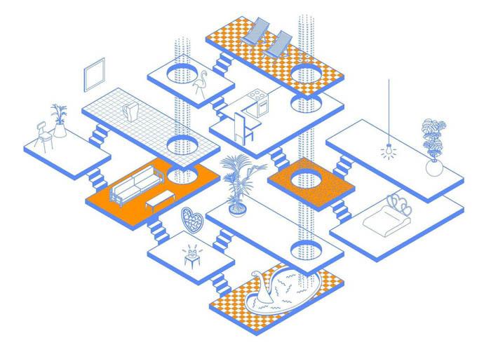 用CAD也能做出这些酷炫的建筑分析图