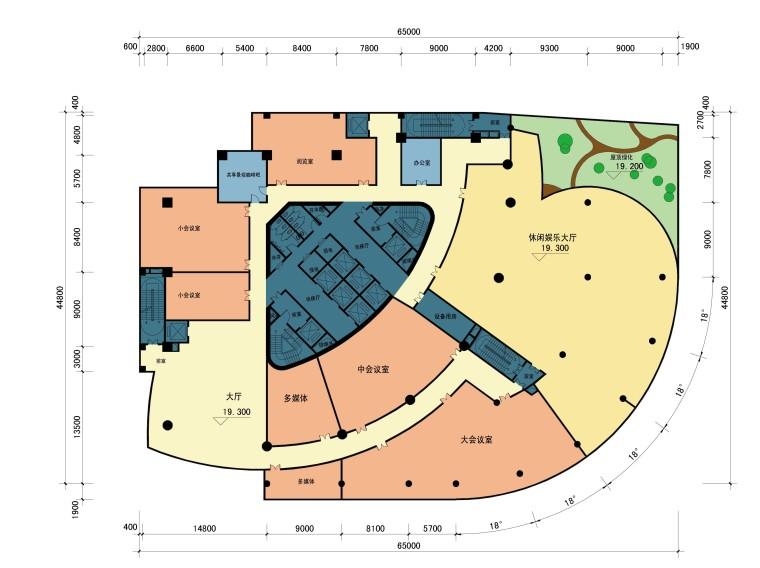 [安徽]合肥四牌楼商业综合体设计方案文本(JPG)-五层平面图