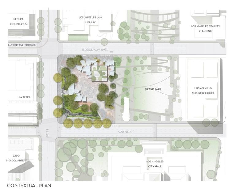 """洛杉矶市中心""""FAB""""新型公园的方案_7"""