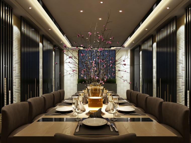 时尚精致餐厅3D模型下载