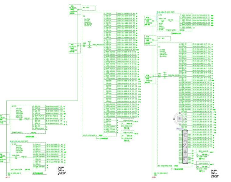 [河北]张家口大型商住楼全套电气施工图纸之二:3号办公楼(22张)