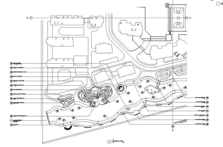 [广东]山水人家景观施工图设计(包含210个CAD+现场照片)-局部平面图