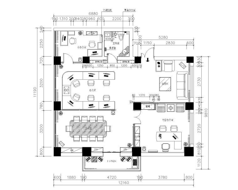 世家星城办公室装修全套CAD施工图