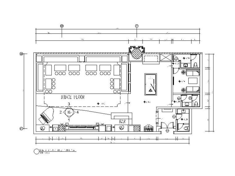 包间 空间类型:ktv 图纸深度:施工图 设计风格:现代风格 图纸格式:cad
