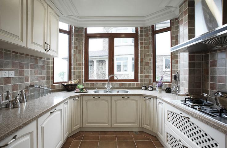 保利高尔夫花园别墅四期室内设计施工图(含实景图)-厨房实景图图