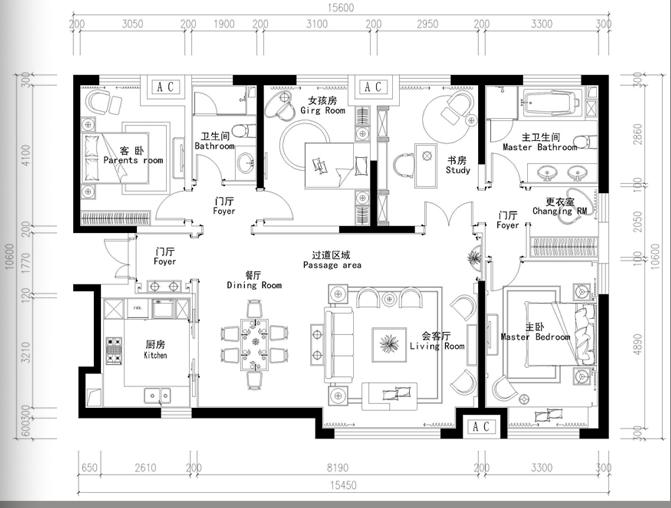天津振业中央城样板房装修方案及效果图(17页)
