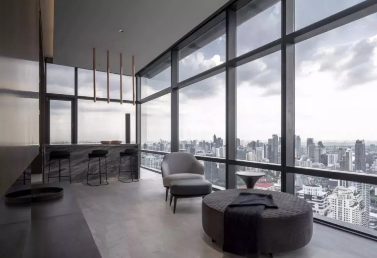 室内设计 130㎡的单身公寓,设计感十足_10
