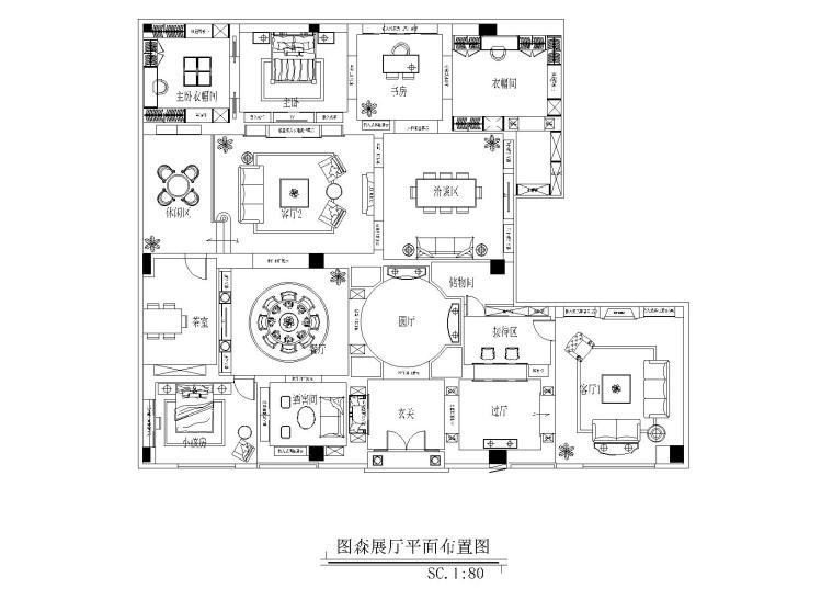 [无锡]图森整体木作-无锡展厅施工图+木饰面深化图纸+拆单表格+官方摄影