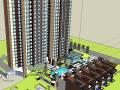 某现代居住区规划设计SU建筑模型