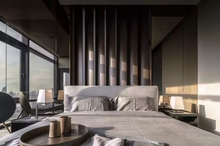 室内设计 130㎡的单身公寓,设计感十足_33