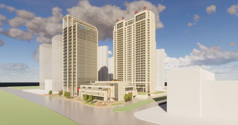 [甘肃]兰州天庆·山河一品滨江高层豪宅建筑模型设计(2018年资料)