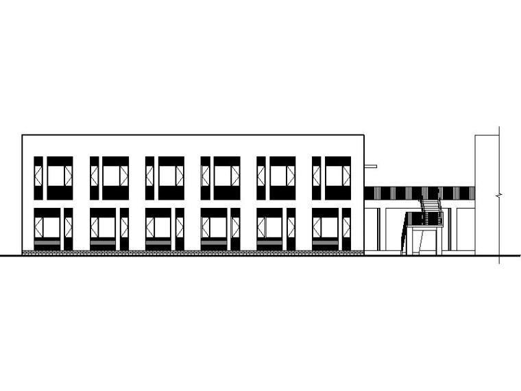 [新疆]大型体育公园现代风格宿舍楼施工图