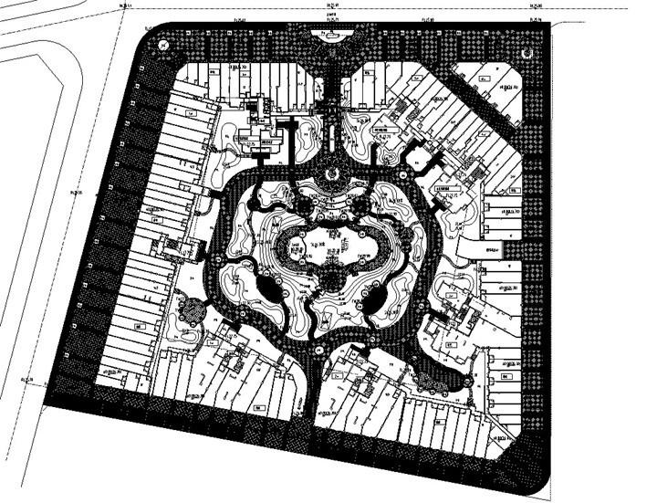 [广东]ArtDeco风格居住区花园景观设计施工图